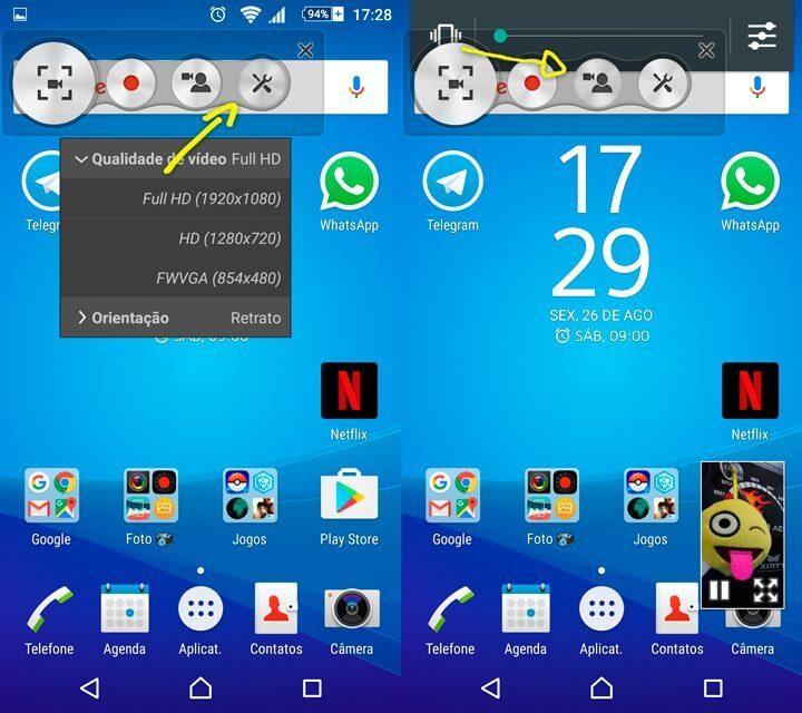 02 configurações Tutorial Z5 gravar tela 720x640 - Tutorial: como gravar a tela do Xperia Z5