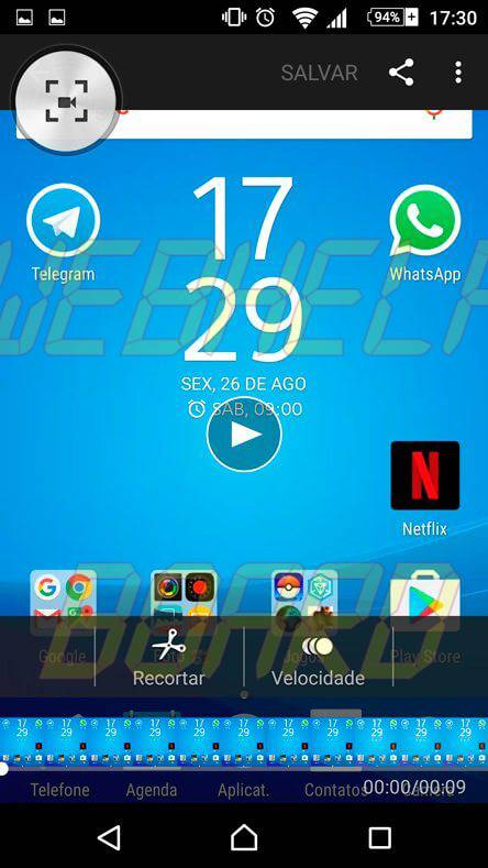 04 editando video no Z5 - Tutorial: como gravar a tela do Xperia Z5