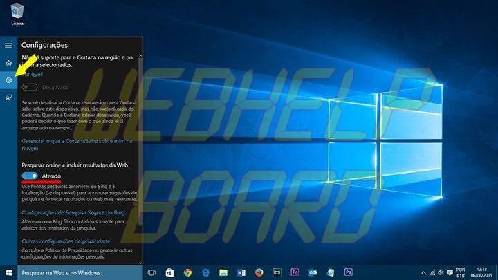 caixa de pesquisa windows 10 ocultar web smt julian 720x405 - Tutorial: Como ocultar a barra de pesquisa e desativar resultados online no Windows 10