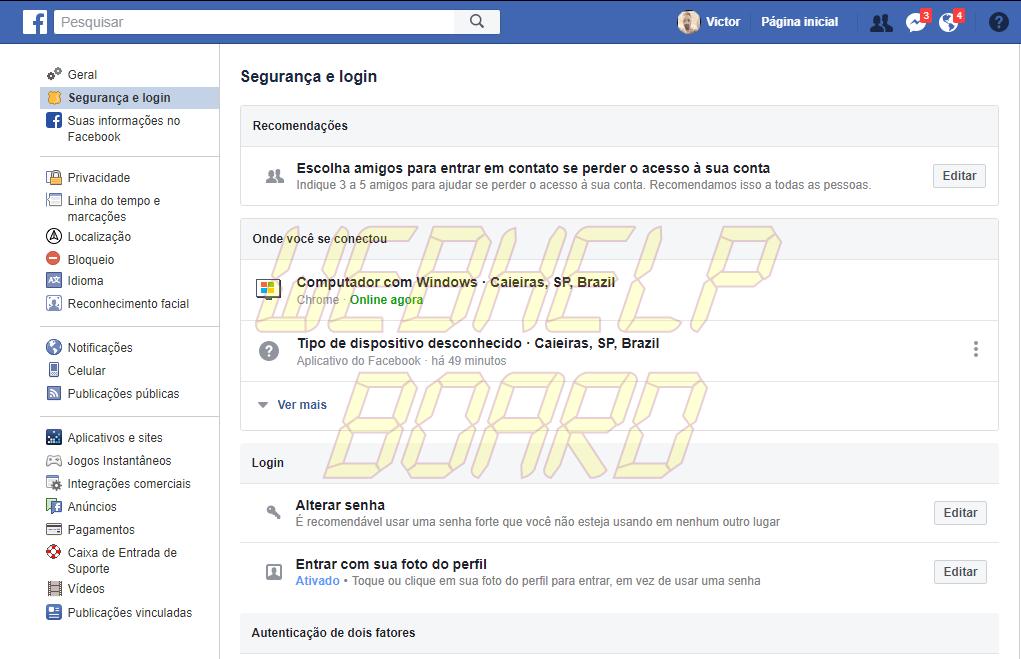 screenshot www.facebook.com 2018.11.19 15 28 11 - Saiba como perceber se seus dados estão sendo roubados por hackers