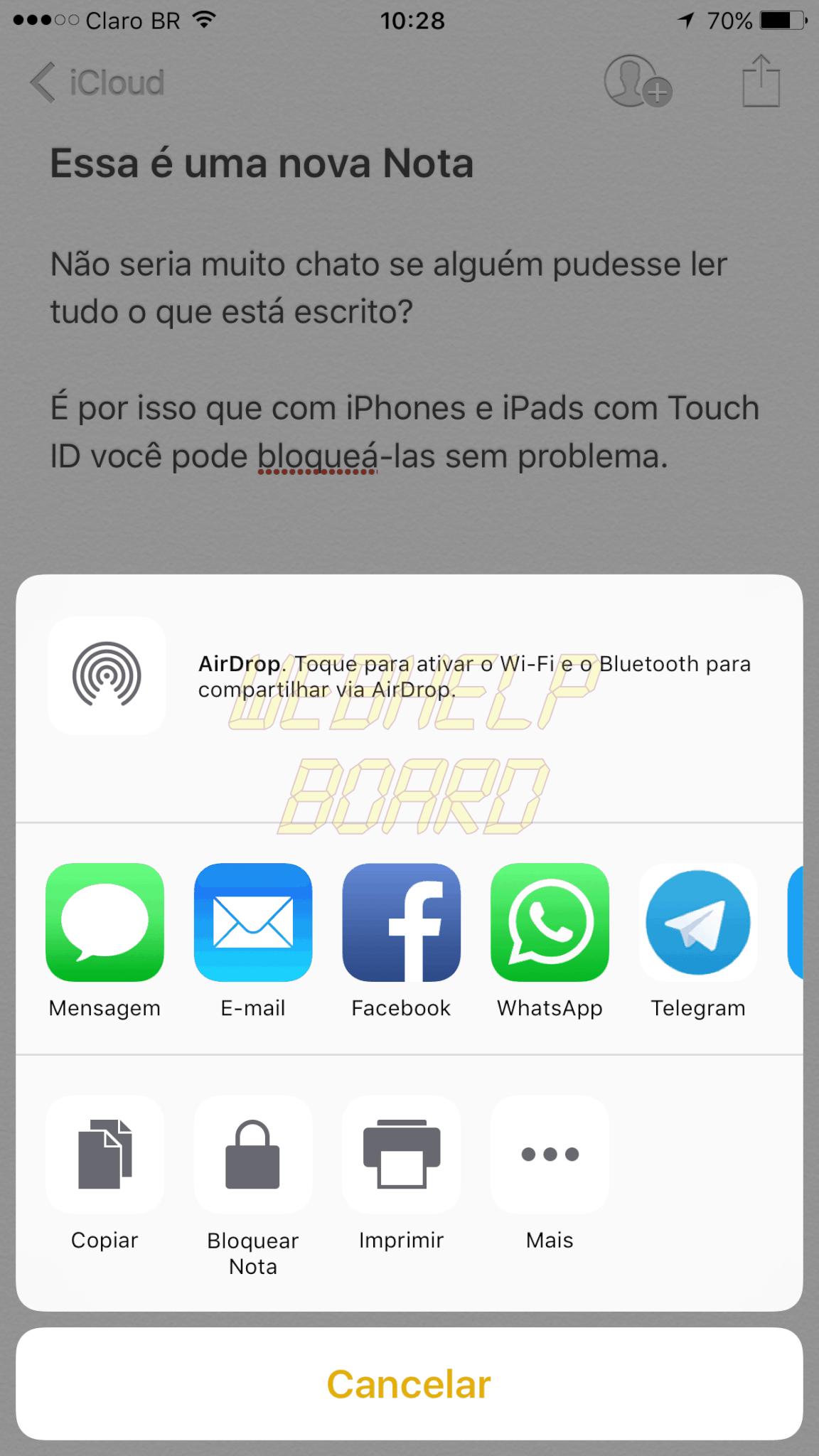 IMG 0783 - Tutorial: Como bloquear uma nota no iPhone ou iPad