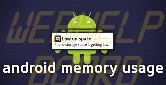 android memory usage - Utilização de memória no Android