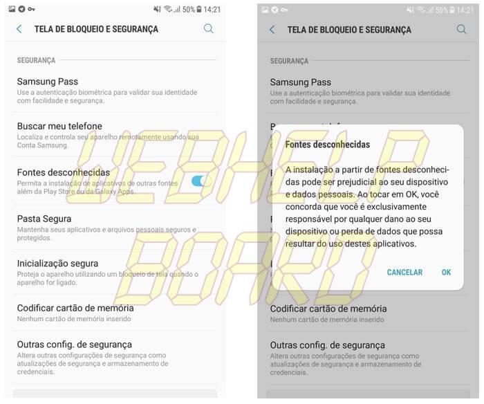 002 - Instalando aplicativos Android de Fontes Desconhecidas
