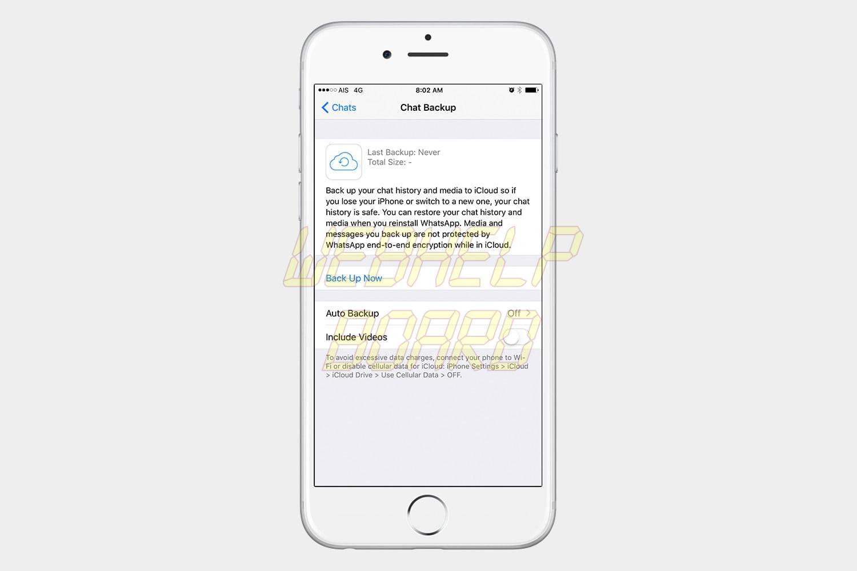 whatsapp consejos y trucos icloud backup