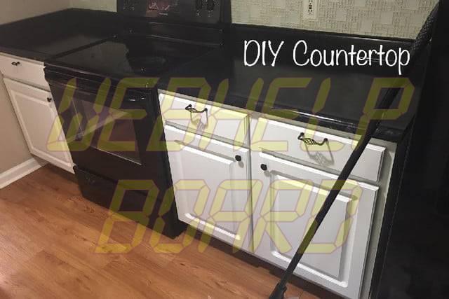faux granite countertops diy counter complete
