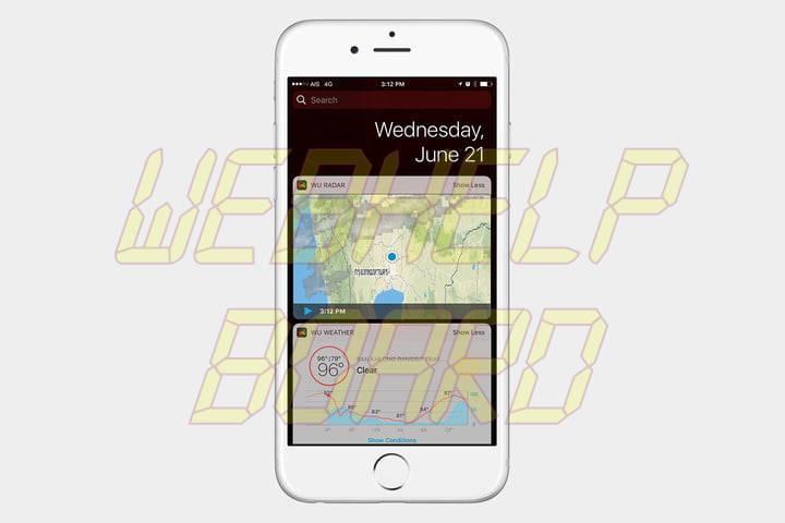 best ios 10 widgets weather underground