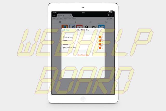 how to clear-cookies on un iPad