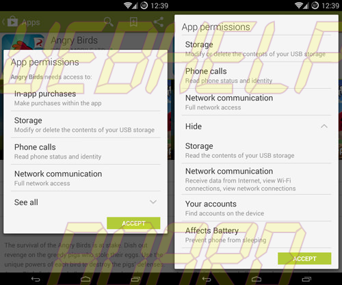 Android App Permissions: