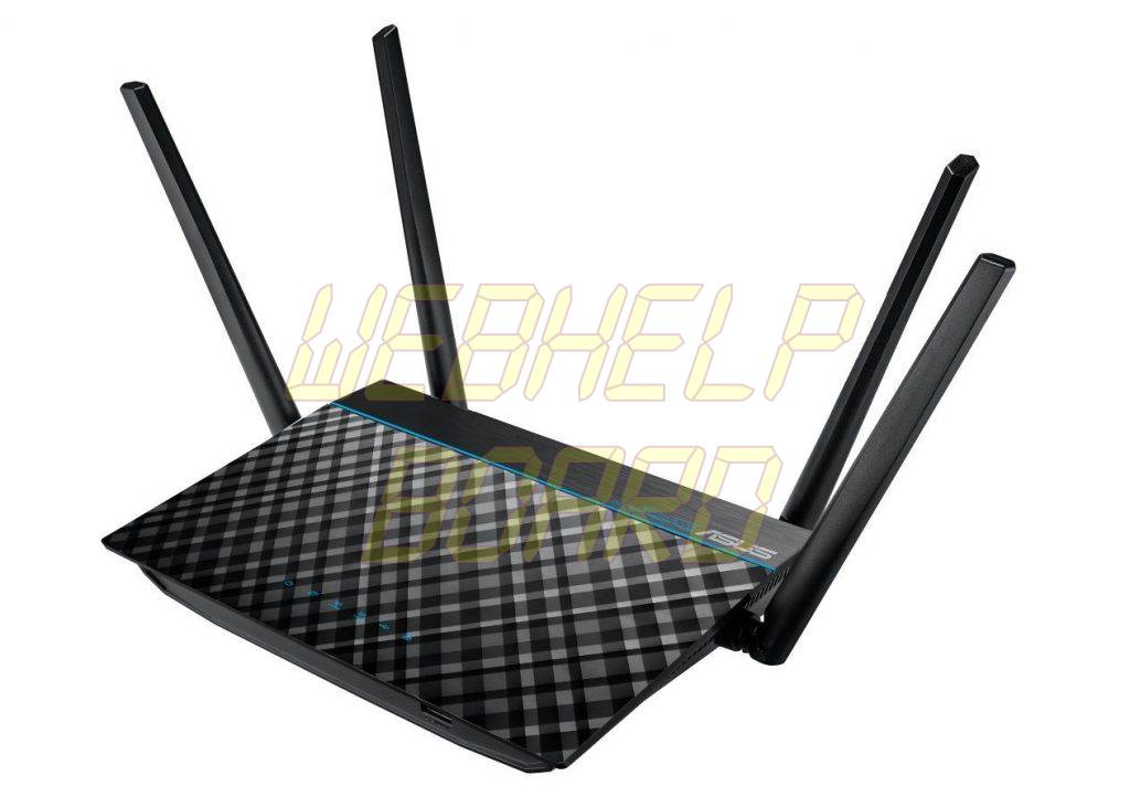 ASUS RT-ACRH13 Dual-Band 2x2 AC1300 Wifi 4-port Gigabit Router - Front