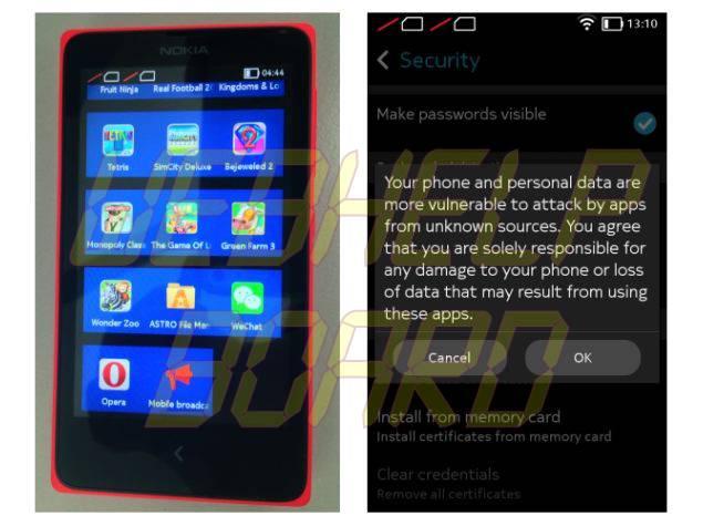 Cómo instalar WhatsApp y otras aplicaciones en Nokia X desde fuentes no oficiales
