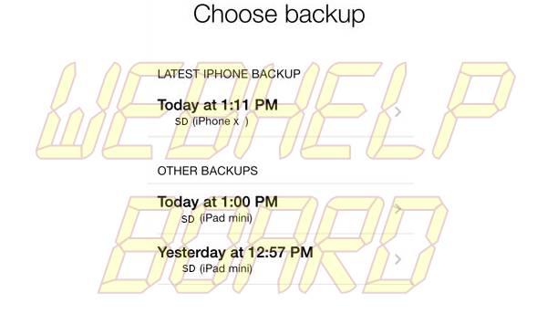 icloud choose backup restore