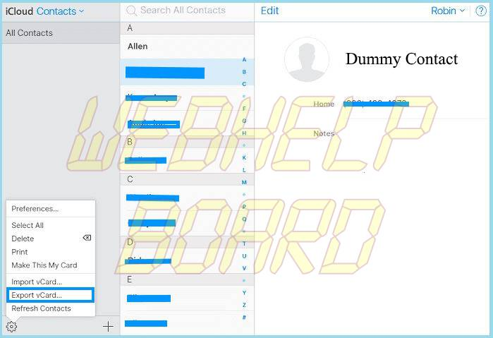 icloud contacts export-2