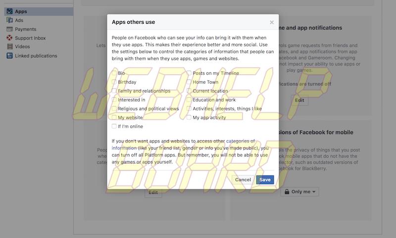 interés en Facebook