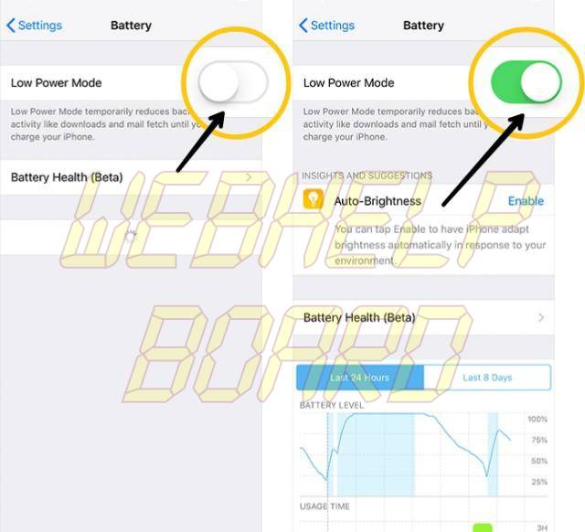 ios 11 enable lower power mode ios 12