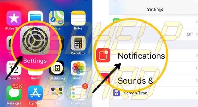 ios 11 notification options ios 12