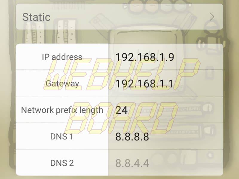 ip settings android dns