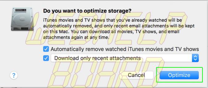 liberar espacio en disco en mi mac