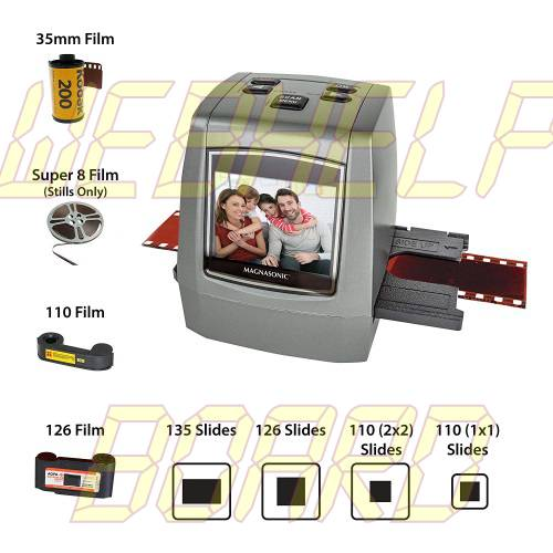 Magnasonic All-in-One High Resolution 22MP Film Scanner