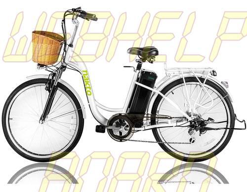 "NAKTO 26"" 250W Cargo Electric Bicycle Sporting Shimano 6 Speed Gear EBike"