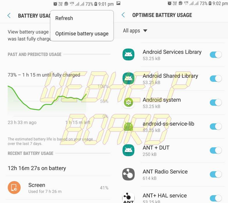 Opimize battery usage