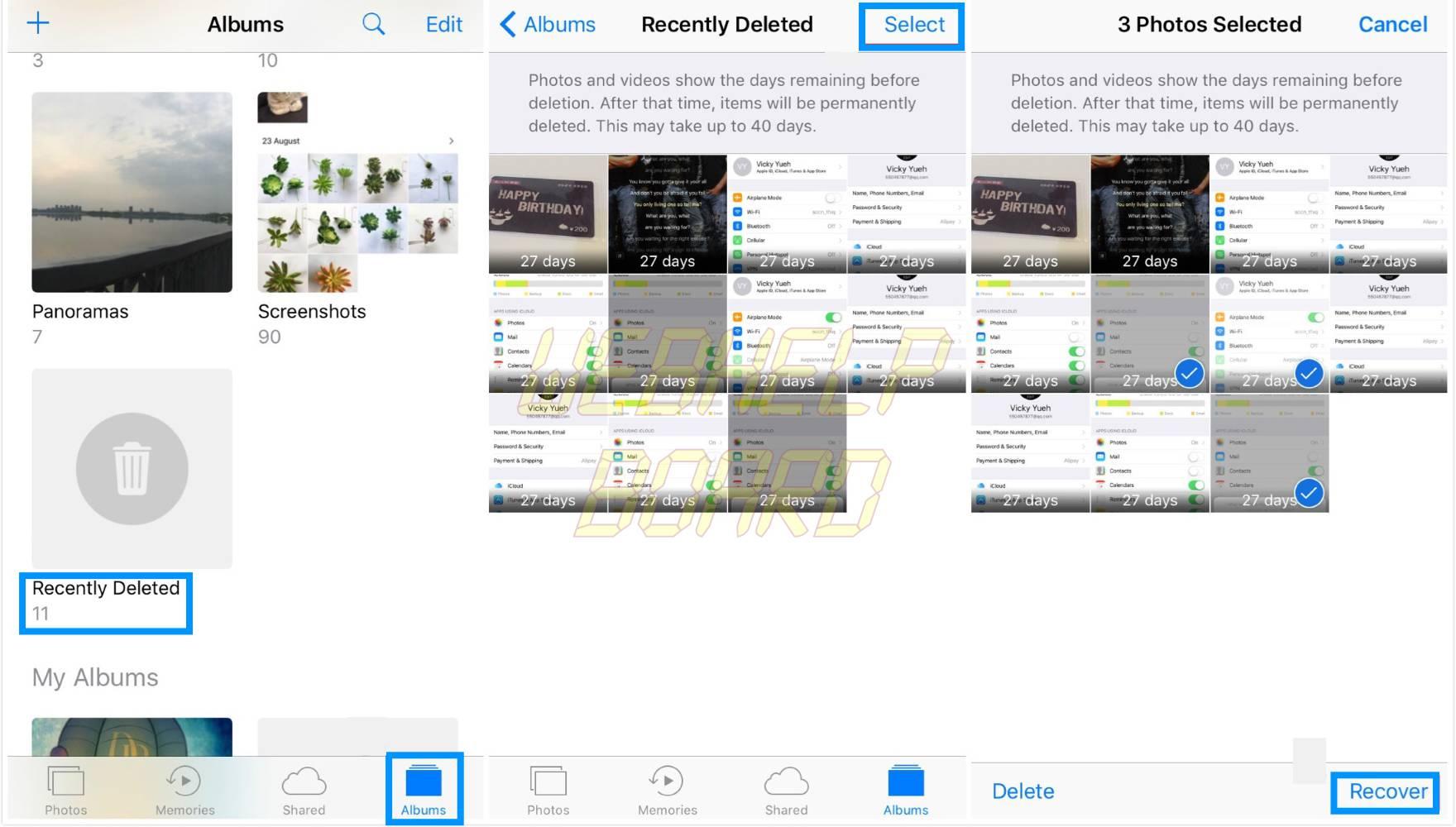 recuperar fotos y vídeos eliminados de la carpeta recientemente eliminada del iPhone