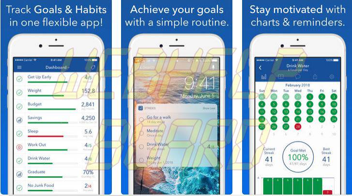 Strides Habit Tracker app