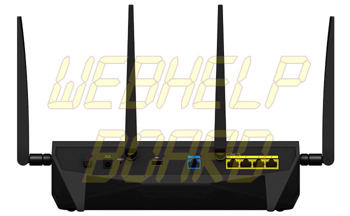 Synology RT2600AC Wi-Fi AC 2600 Gigabit Router - Back