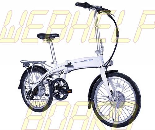 TotemUSA CS-240 Bicicleta Plegable Eléctrica para Deporte, Cercanías, Campus