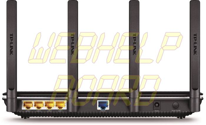TP-Link AC2600 Wireless Wi-Fi Gigabit Router with 4-Stream Technology - Back