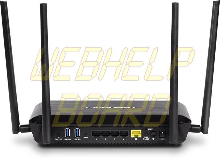 TRENDnet AC2600 MU-MIMO Wireless Gigabit Router - Back