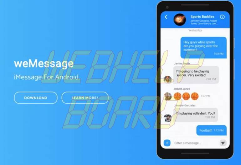 weMessage-iMessage For Android