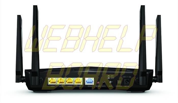 Zyxel Armor Z2 AC2600 MU-MIMO Wireless Router - Back
