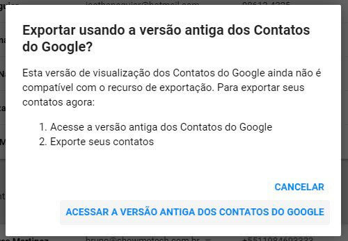acessar versão antiga contatos google smt julian - Tutorial: como importar e exportar contatos do Gmail e Outlook