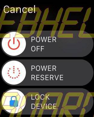 Apple Watch 4 Power Off Lock Off Power Reserve