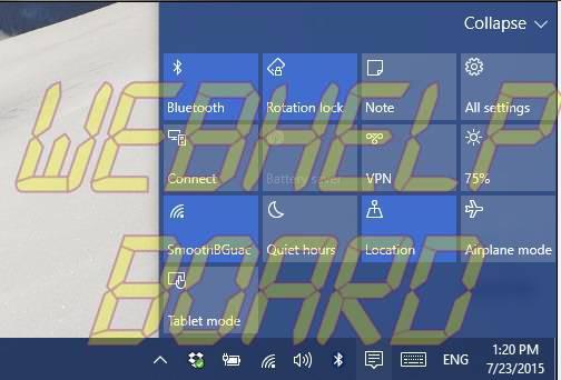 Centro de notificación de Windows 10