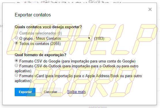 exportar google smt julian - Tutorial: como importar e exportar contatos do Gmail e Outlook