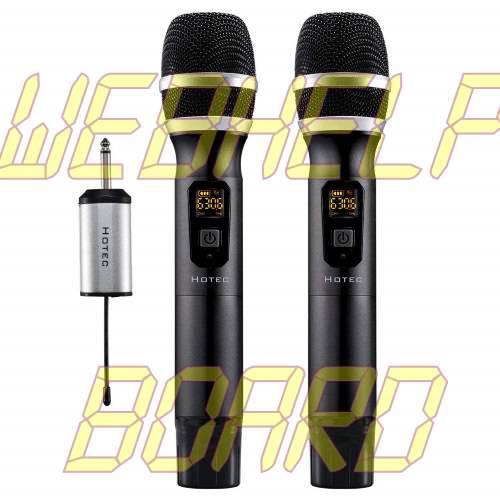 Hotec 25 Channel UHF Wireless Microphone Dual Microphone
