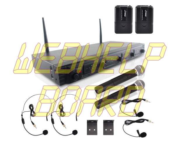 Pyle 4 Channel Wireless Microphone System