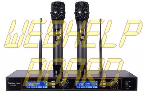 Sound Town 200-Channel Rack Mountable Professional UHF Wireless Microphone System