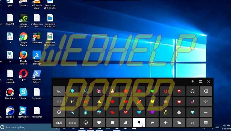 Windows 10 Panel Emoji