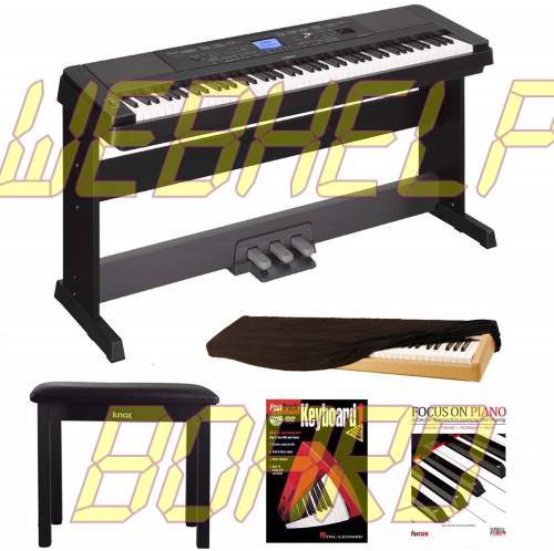 Yamaha DGX660B 88 Key Grand Digital Piano Bundle