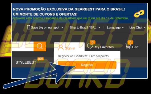 01 gearbest cadastro - Tutorial: Como parcelar suas compras na GearBest, sem juros