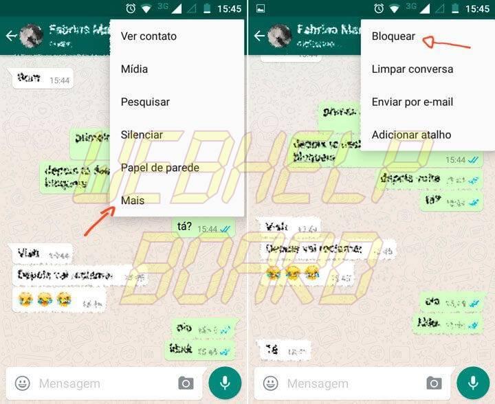 bloquear contato no whatsapp do android 720x588 - Tutorial: como bloquear, desbloquear e saber se foi bloqueado no WhatsApp