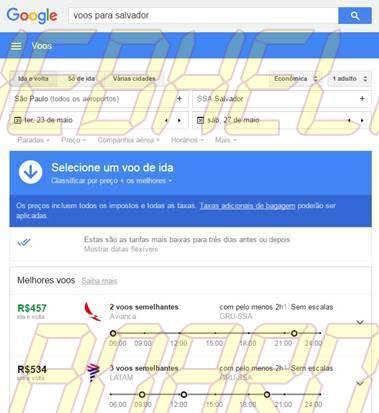 voo - Dica: Dê um Google para basicamente qualquer coisa