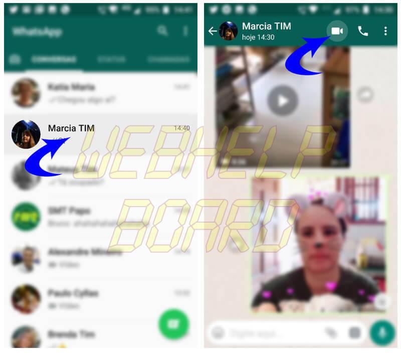 whatsapp chamadas de video em grupo passo02e03 - Tutorial: Faça chamadas de vídeo e voz em grupo no Whatsapp
