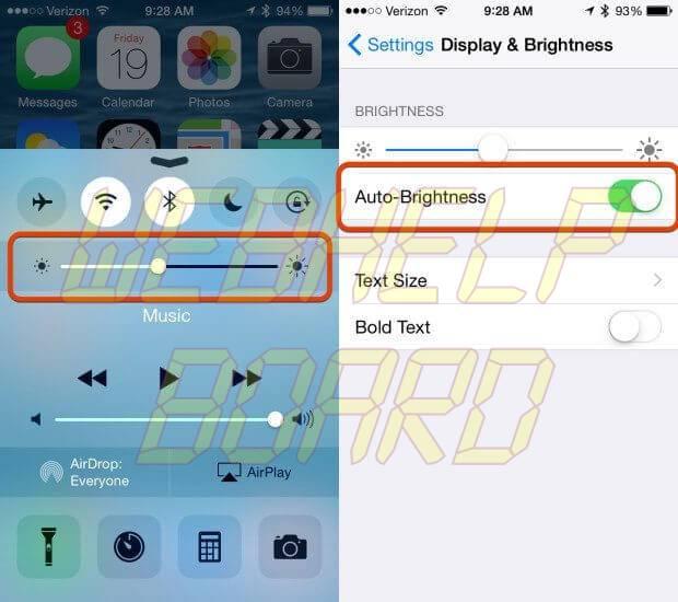 ios 8 battery life fix brightness 620x550 - Fatos e Mitos da bateria em smartphones Android, iPhones e Windows Phones