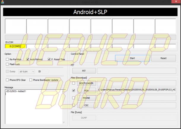 Capturar1 610x434 - Tutorial: Instalando e rooteando o Android 4.1.2 (Jelly Bean) oficial da Samsung no Galaxy SII (GT-i9100)