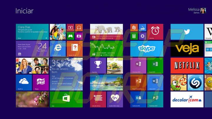 Win8.1 5ROW StartScreen GA BR 720x404 - Deixe o visual do Windows 8.1 mais próximo ao do Windows 7