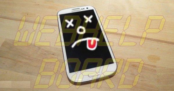 """Dead Galaxy S3 600x314 - Galaxy SIII: teste se o seu aparelho corre o risco de sofrer a """"Morte Súbita"""""""