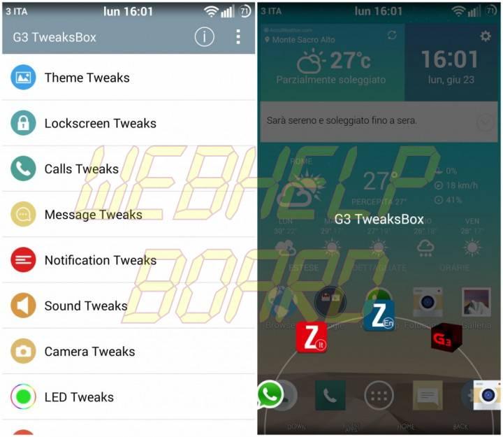 LG G3 TweakBox 720x625 - Tutorial: Acesso Root, Xposed, G3 Tweak Box e instalação de atualizações no LG G3